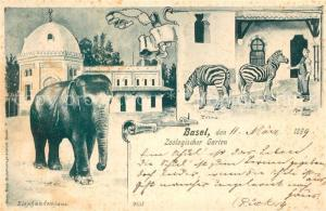 AK / Ansichtskarte Basel_BS Zoologischer Garten Elefantenhaus Basel_BS