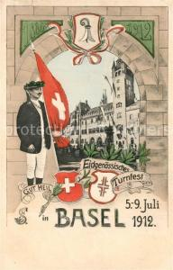 AK / Ansichtskarte Basel_BS Eidgenoessisches Turnfest Basel_BS