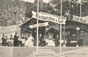 AK / Ansichtskarte Niendorf_Ostseebad Restauration Cafe Gift Bude Strandhalle Niendorf_Ostseebad