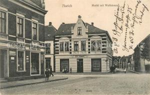 AK / Ansichtskarte Aurich Oldendorf Markt mit Wallstrasse Aurich Oldendorf