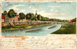 AK / Ansichtskarte Rastatt Uferpromenade  Rastatt