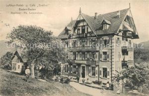 AK / Ansichtskarte Baden Baden Luftkur Hotel Cafe Grethel Baden Baden