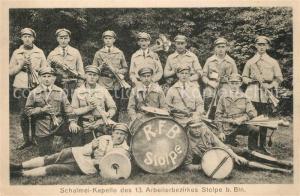 AK / Ansichtskarte Stolpe_Dorf Schalmei Kapelle des 13. Arbeiterbezirkes Stolpe Dorf