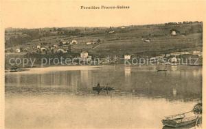 AK / Ansichtskarte Besancon_Doubs Frontiere Franco Suisse Lac Besancon Doubs