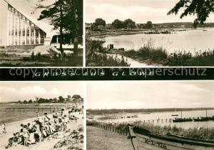 AK / Ansichtskarte Glowe_Ruegen Uferweg Strand Kuestenpanorama Konsumgaststaette Ostseeperle Glowe Ruegen