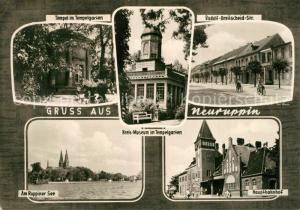 AK / Ansichtskarte Neuruppin Tempel im Tempelgarten Museum Rudolf Breitscheid Strasse Ruppiner See Hauptbahnhof Neuruppin