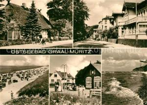 AK / Ansichtskarte Graal Mueritz_Ostseebad Teilansichten Ostseebad Strand Kuestenpanorama Graal Mueritz_Ostseebad