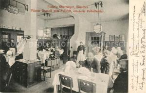 AK / Ansichtskarte Muenchen Pilsner Urquell zum Falstaff Hedwig Obermayer  Muenchen