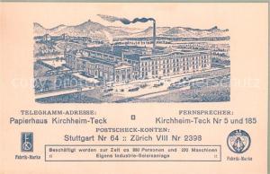 AK / Ansichtskarte Kirchheim_Teck Papierhaus Kirchheim Teck