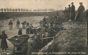 AK / Ansichtskarte Loetzen_Ostpreussen Gefangene Russen als Chausseearbeiter Loetzen_Ostpreussen