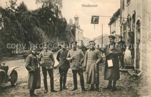 AK / Ansichtskarte Heudicourt_Somme Militaer Gruppenfoto Heudicourt Somme