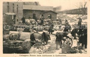 AK / Ansichtskarte Eydtkuhnen_Ostpreussen Gefangene Russen beim Aufraeumen Eydtkuhnen_Ostpreussen