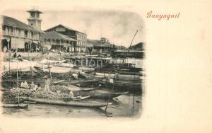 AK / Ansichtskarte Guayaquil Fischerboote Hafen Guayaquil