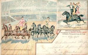 AK / Ansichtskarte Wien Wildes Rennen Roemische Streitwagen 4 Reiter auf einem Pferd Wien