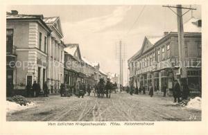 AK / Ansichtskarte Mitau Kreigsschauplatz Kolonnenstrasse Mitau