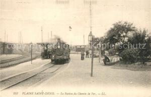 AK / Ansichtskarte Saint Denis_Seine_Saint_Denis Plaine La Station du Chemni de Fer Saint Denis_Seine