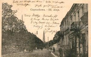 AK / Ansichtskarte Czestochowa_Schlesien III. Aleja Czestochowa_Schlesien