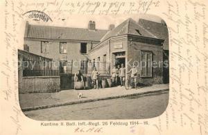 AK / Ansichtskarte Magdeburg Kantine II. Bataillon Infanterie Regiment 26 Magdeburg