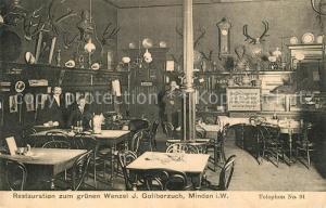AK / Ansichtskarte Minden_Westfalen Restauration zum gruenen Wenzel Minden_Westfalen