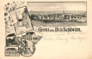 AK / Ansichtskarte Brackenheim Rathaus Kirche Schloss Brackenheim