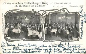 AK / Ansichtskarte Berlin Gaststaette Rothenburger Krug Berlin