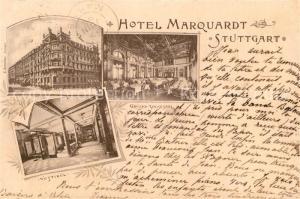 AK / Ansichtskarte Stuttgart Hotel Marquardt Vestibuel Stuttgart