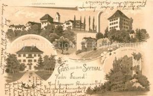 AK / Ansichtskarte Horben_LU Schloss Hohenrain Schloss Horben Ruine Huenegg Horben_LU