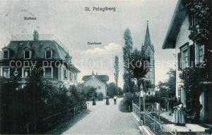 AK / Ansichtskarte St_Pelagiberg Kurhaus Pfarrhaus St_Pelagiberg