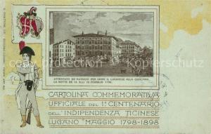 AK / Ansichtskarte Lugano_TI Cartolina Commemorativa Ufficiale Lugano_TI