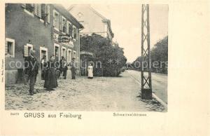 AK / Ansichtskarte Freiburg_Breisgau Schwarzwaldstrasse Freiburg Breisgau