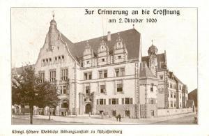 AK / Ansichtskarte Aschaffenburg_Main Koeniglich hoehere weibliche Bildungsanstalt Erinnerung Eroeffnung Aschaffenburg Main