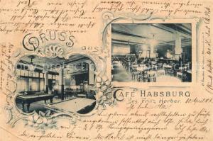 AK / Ansichtskarte Nuernberg Cafe Habsburg Nuernberg