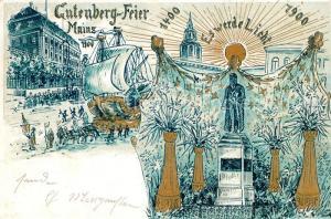 AK / Ansichtskarte Mainz_Rhein Gutenberg Feier Es werde Licht Mainz Rhein