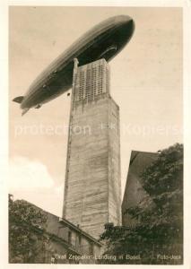 AK / Ansichtskarte Basel_BS Graf Zeppelin Landung Basel_BS