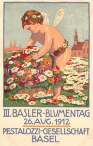 AK / Ansichtskarte Basel_BS Basler Blumentag Pestalozzi Gesellschaft Basel_BS