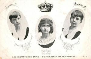 AK / Ansichtskarte Adel_Belgien 3 Enfants d un Brave  Adel Belgien