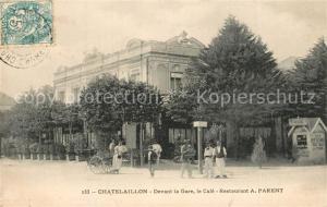 AK / Ansichtskarte Chatelaillon Plage Devant la Gare le Cafe Restaurant Parent Chatelaillon Plage