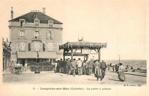 AK / Ansichtskarte Langrune sur Mer La pierre a poisson Langrune sur Mer