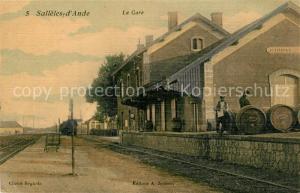 AK / Ansichtskarte Salleles d_Aude La Gare Salleles d_Aude