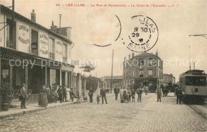 AK / Ansichtskarte Les_Lilas La Rue de Romainville la Croix de l Epinette Les_Lilas