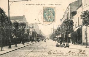 AK / Ansichtskarte Montreuil sous Bois Avenue Pasteur