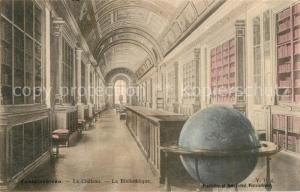 AK / Ansichtskarte Globus Fontainebleau Chateau Bibiotheque  Globus