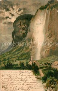 AK / Ansichtskarte Berggesichter Staubbach Litho Verlag Killinger Nr. 124