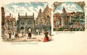 AK / Ansichtskarte Ausstellung_Gewerbe_Berlin_1896 Spandauer Strasse Gerichtslaube Litho