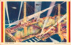 AK / Ansichtskarte Expositions_Worlds_Fair_Chicago_1933 Lagoon at Night  Expositions_Worlds