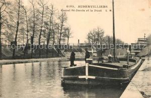 AK / Ansichtskarte Aubervilliers Canal St Denis et le Pont Aubervilliers
