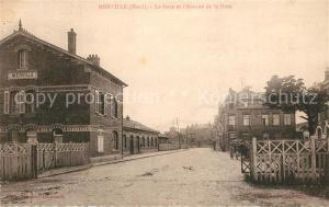 AK / Ansichtskarte Merville_Nord La Gare et l'Avenue de la Gare Merville_Nord