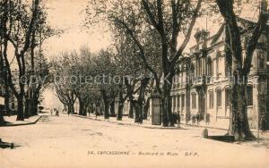 AK / Ansichtskarte Carcassonne Boulevard du Musee Carcassonne