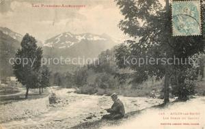 AK / Ansichtskarte Aulus les Bains Les bords du Garbet et les Pyrenees Aulus les Bains