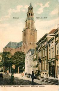 AK / Ansichtskarte Groningen Achter de fl Kerk Groningen